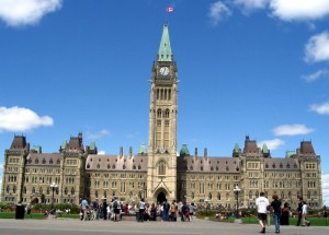 Canadian Parliament PEACE Tower, to commemerate